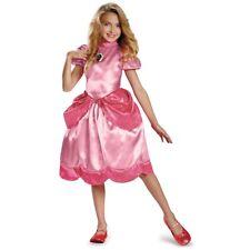Princess Peach Costume Kids Mario Brothers Halloween Fancy Dress