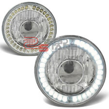 7x7 H6024/H6017 ROUND CHROME HOUSING PROJECTOR LED HEADLAMPS FITS CHEVY BEL AIR