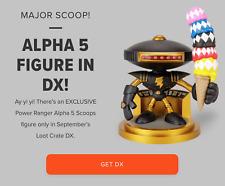 LootCrate DX Original Robotic Alpha Five 5 Scoops Figure Power Rangers Sealed