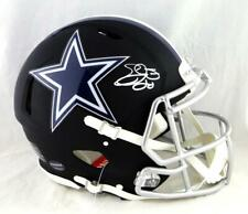 Emmitt Smith Signed Cowboys F/S Flat Black Authentic Helmet - Beckett Auth *Wh