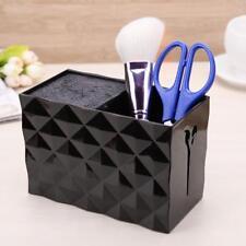 Non Slip Socket Hair Scissor Comb Hair Clips Storage Box Stand Case(Black)Holder