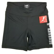 NWT Puma Women's Jump Up Short Black-Silver Size M MSRP $30 Spandex Athletic