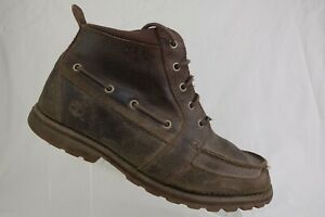 TIMBERLAND Distressed Brown Sz 10 M Men Ankle Lace-Up Chukka Boots