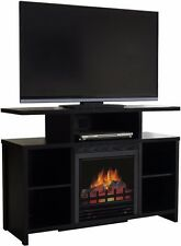 Electric Fireplace TV Stand Heater Wood Media Storage Console Shelf Television