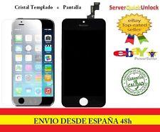 PANTALLA COMPLETA TACTIL LCD PARA IPHONE 5S NEGRO + PROTECTOR CRISTAL TEMPLADO
