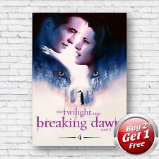 Twilight Saga Breaking Dawn Part 1 Film Movie A4, A3, A3+ Borderless Poster