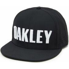NWT Oakley PERF SNAPBACK HAT Adjustable Cap 6-Panel BLACK WHITE 911702 MENS OS