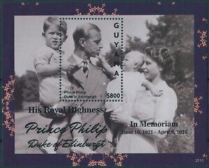 Guyana 2021 MNH Royalty Stamps Prince Philip Duke of Edinburgh Memorial 1v S/S