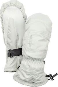 2020 HESTRA C Zone Powder Ladies Ski Mitten Glove Size 7 White 32621 waterproof