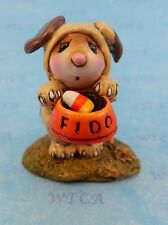 FEED THE DOG by Wee Forest Folk, WFF# M-591a, Halloween Mouse 2016!