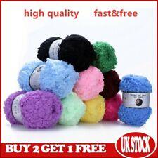 Fluffy Coral Velvet Natural Yarn Warm Soft Skeins Plush DIY Chunky Knitting Wool