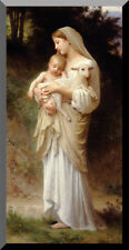 """L'Innocence by William Adolphe Bouguereau - Wood Plaque 12""""X24"""" NEW"""