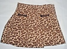 gymboree animal print velour skirt girls size 8 brown clothes pre-owned skort