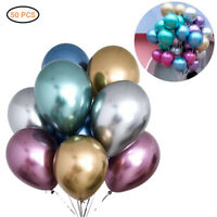 "50CS 12"" Metallic Pearl Chrome Latex Balloons for Wedding Birthday Party"
