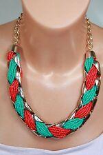 Markenlose Modeschmuck-Halsketten & -Anhänger im Collier-Stil mit Türkis