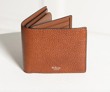 Mulberry Wallet - BNWT Natural Grain Tan Leather 8 Card Coin Wallet Oak RRP:£260