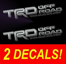 (2) TRD Off Road Toyota Tacoma Tundra Pair Decals Sticker Truck bedside vinyl