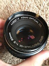 SMC Pentax-M 1:2 50mm Asahi Optical Co. Lens. Clean!