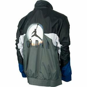 Jordan VIII Remixed Men's Jacket Black/Flint Grey/White 534763-010 Size L, XL