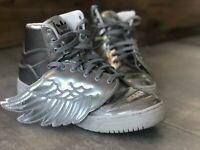 RARE JEREMY SCOTT WINGS adidas Originals Metallic Silver size EUR 46, 12US