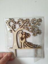 Wedding Cake Topper Wooden Shaby Chic Couple Groom Bride