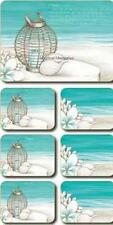 Beach Shell Lantern Placemats & Coasters x 6 By Lisa Pollock Great Gift Idea New
