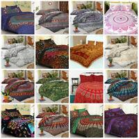 Elephant Mandala Hippie Gypsy Indian Quilt Duvet Cover Bedding Set & Pillow Boho