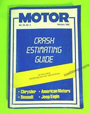 1988 Motor Crash Estimating Guide Manual Chrysler Amc Jeep Eagle Renault