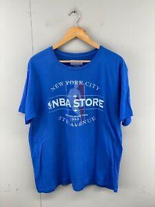 NBA Store New York City Men's Short Sleeve Crew Neck T-Shirt Size 2XL Blue