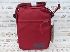LEVI'S Mini Body Bag SMALL Canvas Side Shoulder Bags Red Messenger Sack BNWT