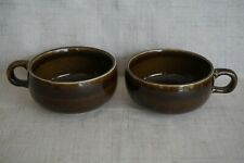 Russel Wright Steubenville BROWN COFFEE / TEA CUPS (2)