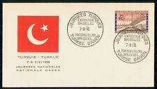 Mayfairstamps Belgium Event 1958 Cover Bruxelles Turkey Expo wwh78259