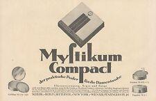 Y4204 MYSTIKUM Compact - Parfumerie Scherk - Pubblicità d'epoca - 1925 Old ad
