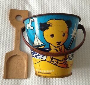 vintage   sooty and sweep  bucket and  spade