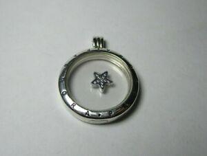 PANDORA - Floating Locket large round Pendant and petite Star charm - 590530