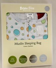 Bubba Blue Muslin Bamboo Sleeping Bag Medium Baby 6-12 Months Breathable Vanilla