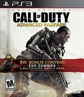 PLAYSTATION 3 PS3 VIDEO GAME CALL OF DUTY ADVANCED WARFARE GOLD EDITION NEW