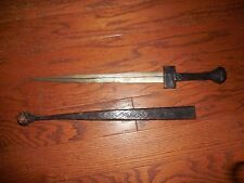 Antique Arabian Dagger with leather sheath 2ft.
