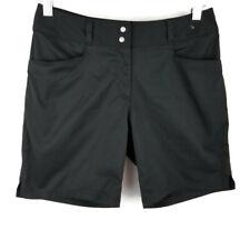 Adidas shorts black mid length athletic lightweight womens size 2
