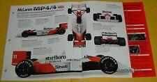 1988 McLaren MP4/4 Race Car Honda V6 HEFI Twin Turbo 685hp 1493cc specs/photo