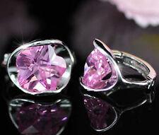 Sapphire (Imitation) Huggie Fashion Earrings