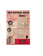 1954 LEE PETTY @ DAYTONA BEACH ~ ORIGINAL SMALLER GRANT PISTON RING AD