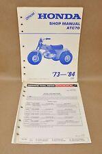 Vintage 1973-1984 Honda ATC70 Shop Repair Service Manual w/ Tool News