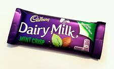 ☘☘IRISH CADBURY MINT CRISP CHOCOLATE 5 X 54g Bars Ireland Dairy Milk BB 02/18☘☘