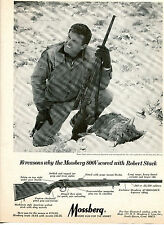 1968 Print Ad of Mossberg 800V Rifle w Robert Stack coyote shot Roswell NM