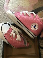 CONVERSE Crib Shoes Pink FIRST ALL STAR BABY SIZE 4