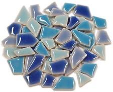 Flip Ceramic Mini Mosaic Tiles - Blue Mix 100g