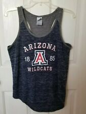 Creative Apparel Womens L Racerback Tank Top Arizona Wildcats Blue/Gray