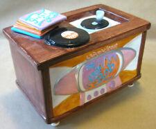 Television Hi-Fi Tv Cookie Jar Fitz & Floyd Omnibus 50's Furnishings '94 Nos