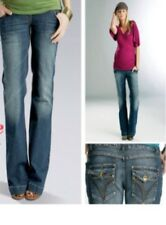 "maternity jeans - size XS - 31"" (78cm) leg - over bump - bootcut - dark blue"